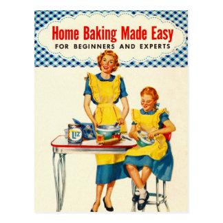 La hornada del hogar de la hornada de la mujer del tarjeta postal