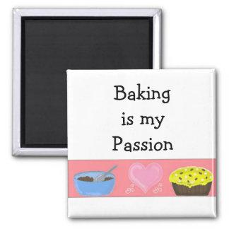 La hornada es mi pasión imán cuadrado