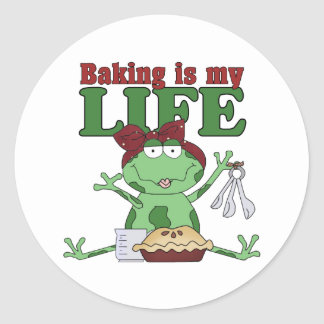 La hornada es mi vida etiqueta redonda