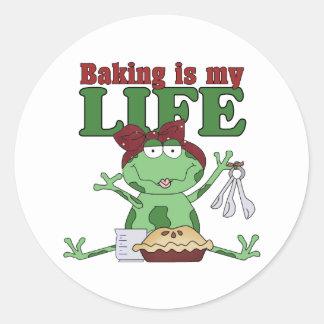 La hornada es mi vida pegatina redonda