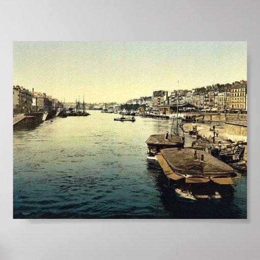 La Huelga, vintage Photochrom de Nantes, Francia Poster