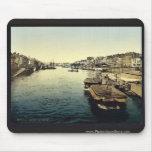 La Huelga, vintage Photochrom de Nantes, Francia Alfombrillas De Raton