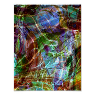 La huella dactilar de Pollock Póster
