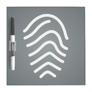 La huella dactilar resulta pictograma pizarra