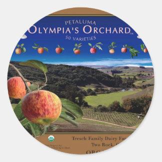 La huerta de Olympia Pegatinas Redondas