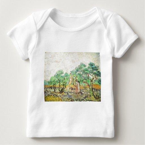 La huerta verde oliva - Vincent van Gogh (1889) Playera De Bebé