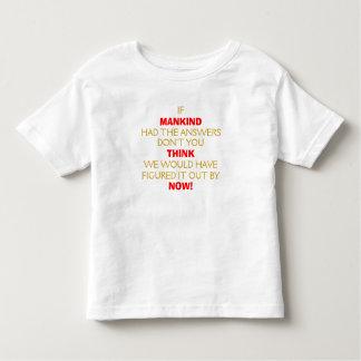 ¡La humanidad… ahora piensa…! Camisas
