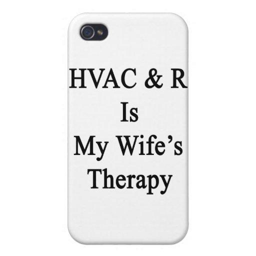 La HVAC R es la terapia de mi esposa iPhone 4 Carcasas
