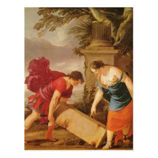 La Hyre, Laurent de Theseus und ?thra um 1635-1640 Postcard