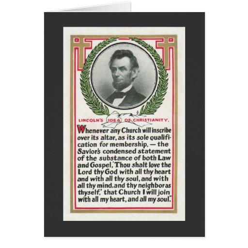 La idea de Lincoln del cristianismo Felicitación