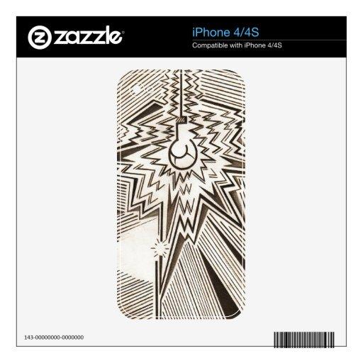 """""""La idea grande """" Skins Para eliPhone 4"""