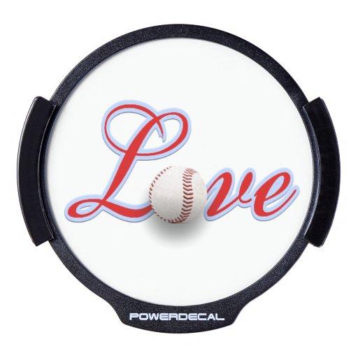 La idea LED del regalo del amante del béisbol Decal LED Para Ventana