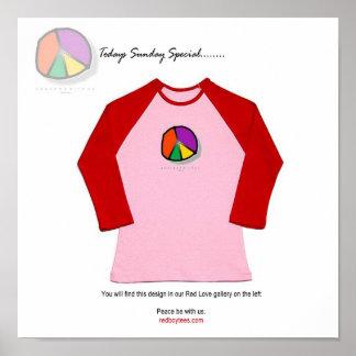 La idea para la paz sea con nosotros camiseta póster
