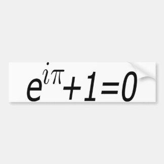 La identidad de Euler Pegatina De Parachoque