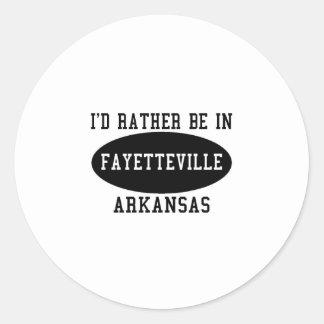 La identificación esté bastante en Fayetteville Pegatina Redonda