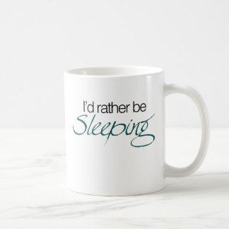 La identificación esté durmiendo bastante taza de café