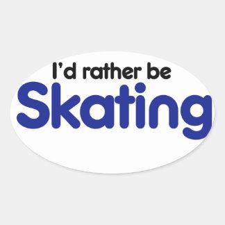 La identificación esté patinando bastante pegatina ovalada