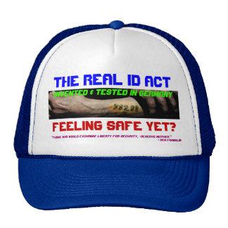 La identificación real Act Gorra