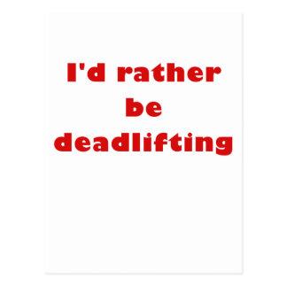 La identificación sea bastante Deadlifting Tarjetas Postales