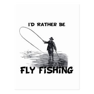 La identificación sea bastante pesca con mosca postales