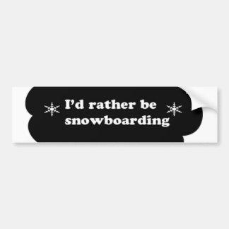 La identificación sea bastante snowboard pegatina para auto