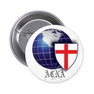 La Iglesia Anglicana de Norteamérica Pin Redondo De 2 Pulgadas
