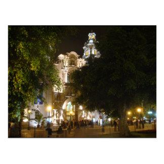 La Iglesia at Night Postcard