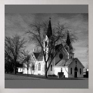 La iglesia b 1914 Plymouth Nebraska de San Pablo Posters