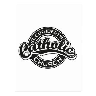 La iglesia católica de St Cuthbert blanco y negro Postales