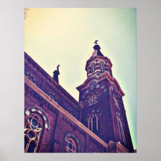 La iglesia católica de St Mary Poster