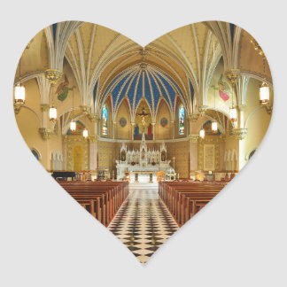 La iglesia católica Roanoke Virginia de St Andrew Pegatina Corazón Personalizadas
