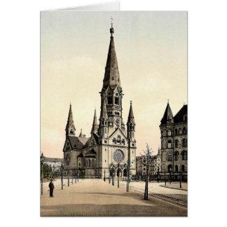 La iglesia conmemorativa de Wilhelm del emperador, Tarjeton