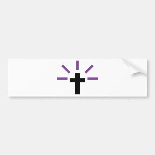 La iglesia cruzada de Jesús ruega el icono de Cris Pegatina Para Auto