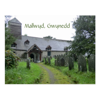 La iglesia curiosa de Mallwyd de St Tydecho Postales
