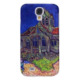 La iglesia de Auvers de Vincent Willem Van Gogh Funda Para Galaxy S4