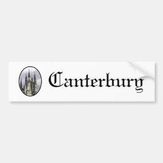 La iglesia de Inglaterra Cantorbery tuerce en espi Pegatina De Parachoque