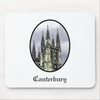 La iglesia de Inglaterra Cantorbery tuerce en espi Alfombrilla De Ratones