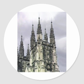 La iglesia de Inglaterra Cantorbery tuerce en Pegatina Redonda