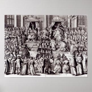La iglesia de Inglaterra contra el papado Póster