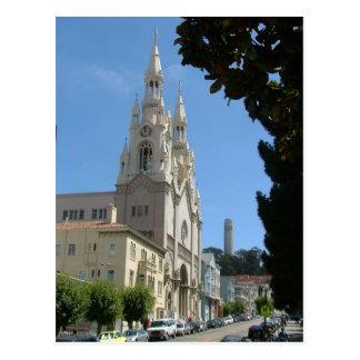 La iglesia de Peter y de Paul y el Coit se elevan Postal