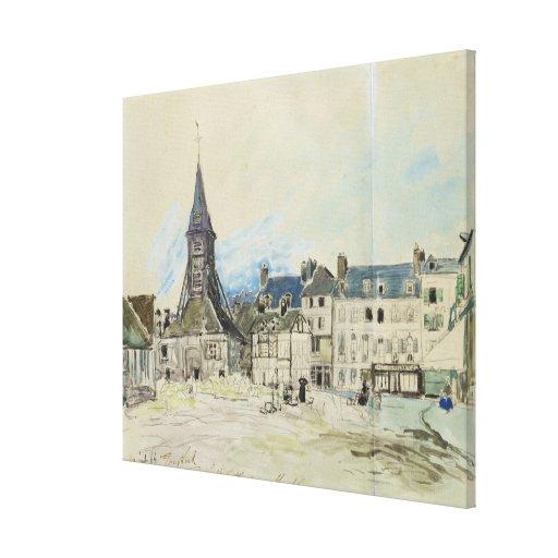 La iglesia de Sainte-Catherine, Honfleur, 1864 Impresión En Tela