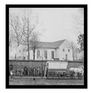 La iglesia de San Juan en Richmond, VA 1865 Posters