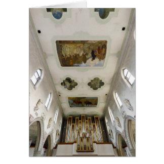 La iglesia de San Martín, Wangen, Alemania Tarjeta De Felicitación