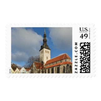 La iglesia de San Nicolás, Tallinn, Estonia Sellos
