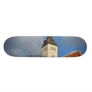 La iglesia de San Nicolás, Tallinn, Estonia Tabla De Skate
