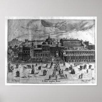 La iglesia de San Pedro de vistas de Rome Posters