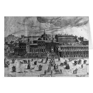 La iglesia de San Pedro, de 'vistas de Rome Tarjeta De Felicitación