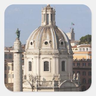 La iglesia de Santissimo Nome di Maria y Pegatina Cuadrada