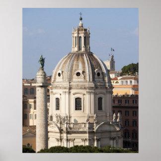La iglesia de Santissimo Nome di Maria y Póster