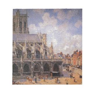 La iglesia de St Jacques en Dieppe, mañana Sun Bloc De Papel